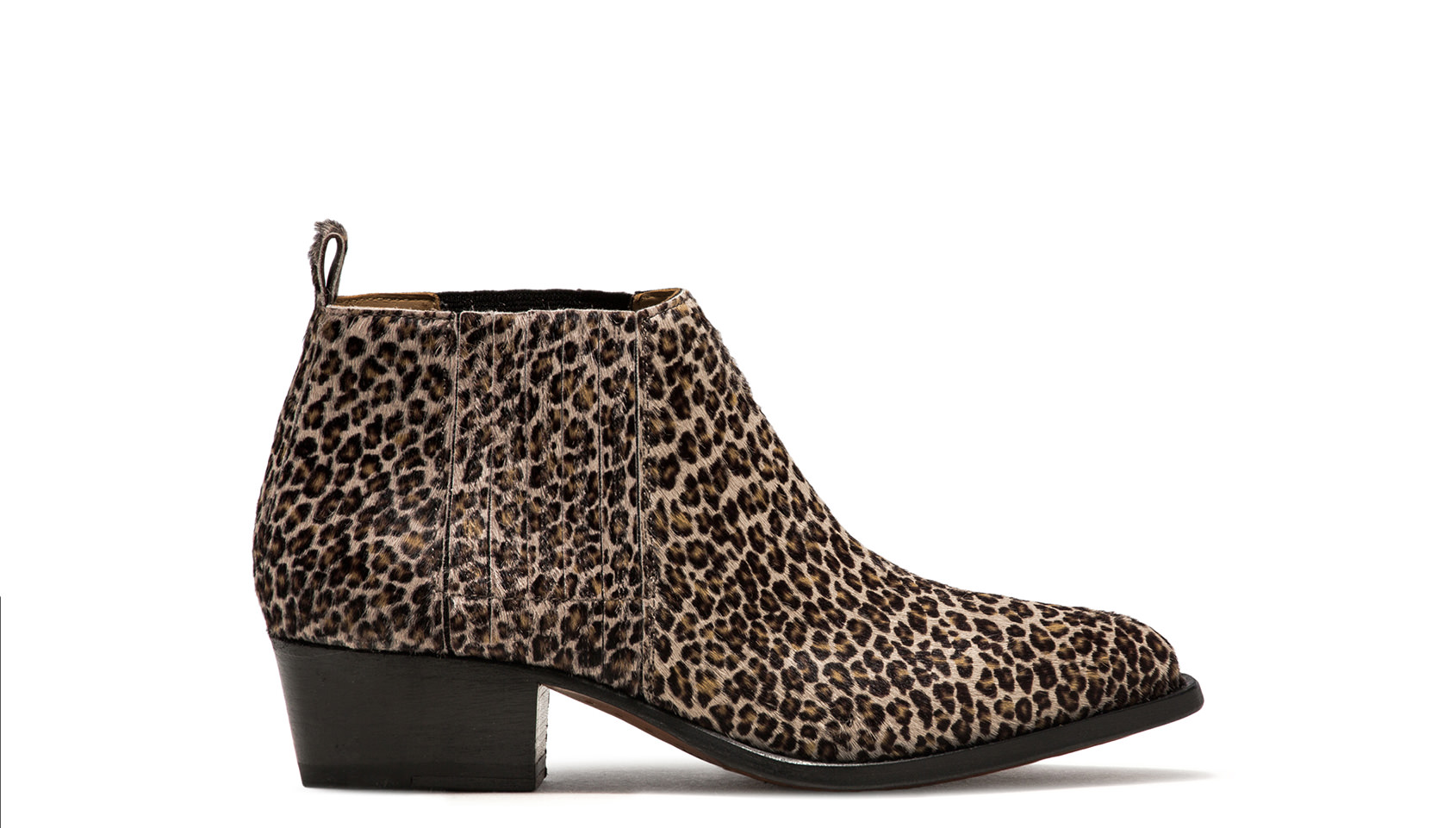 BUTTERO: LEOPARD PRINTED PONYSKIN TRES LOW TOP DURANGO BOOTS
