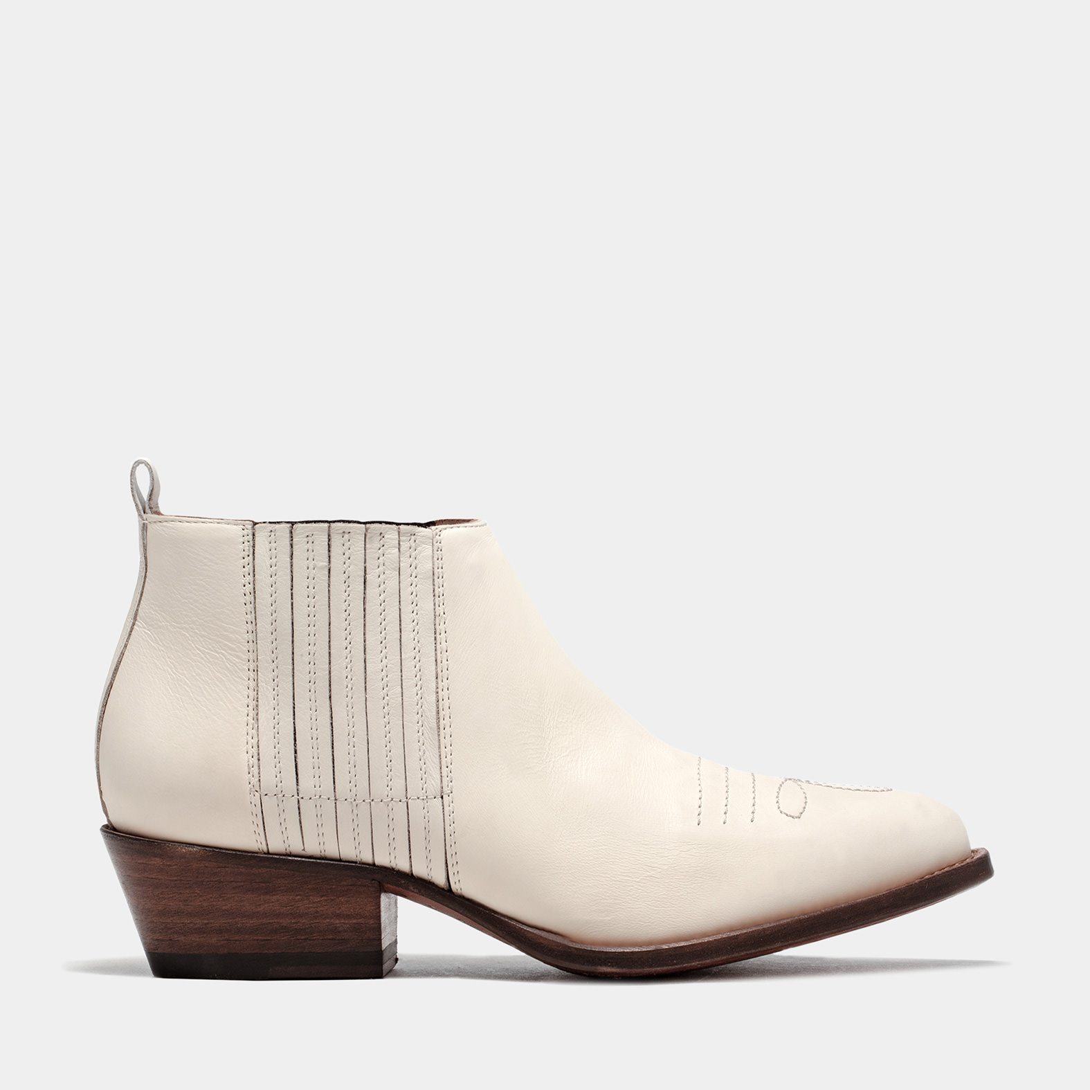 BUTTERO: CREAM LEATHER TRES LOW TOP DURANGO BOOTS