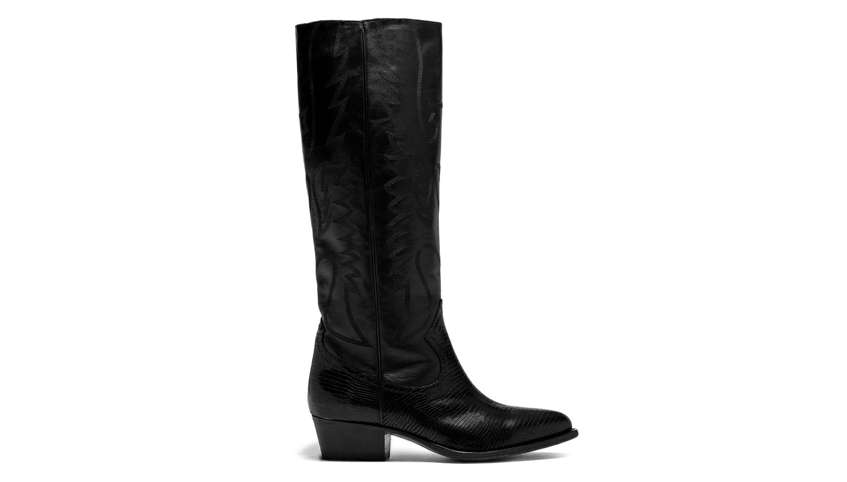 BUTTERO: BLACK LEATHER  TRES HIGH TOP DURANGO BOOTS