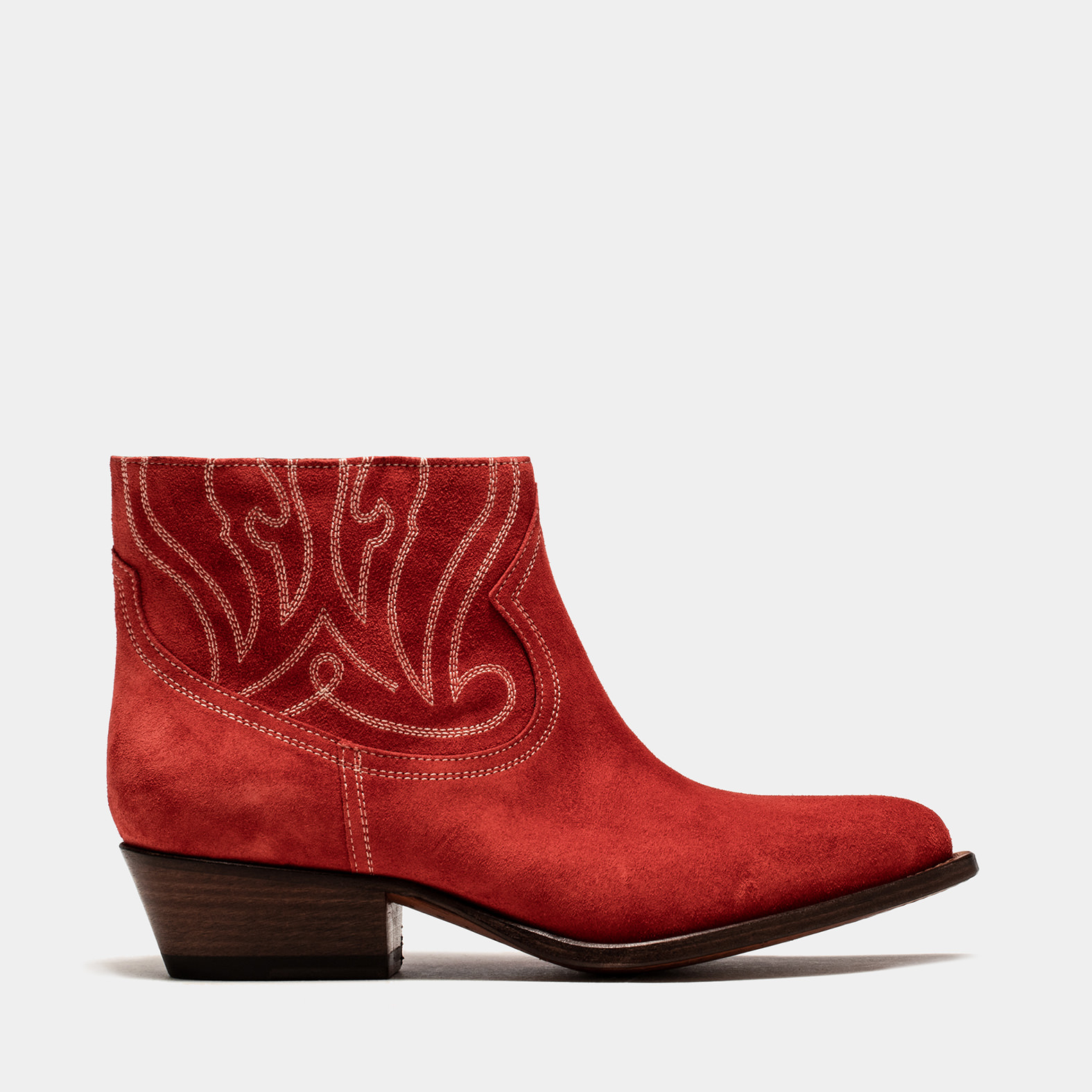 BUTTERO: RUBY SUEDE TRES LOW TOP DURANGO BOOTS