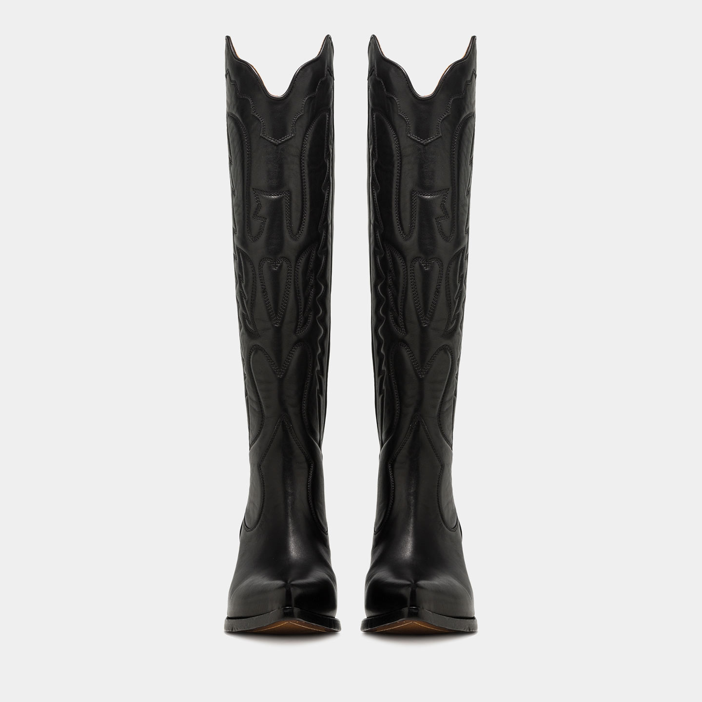 ELISE HIGH TOP BOOTS IN BLACK LEATHER